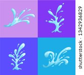 water splashes on colorful... | Shutterstock .eps vector #1342936829