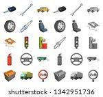 car  vehicle cartoon mono icons ...   Shutterstock .eps vector #1342951736