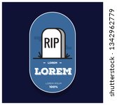 rip tombstone badge sticker... | Shutterstock .eps vector #1342962779