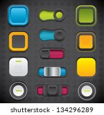 modern buttons and switches | Shutterstock .eps vector #134296289