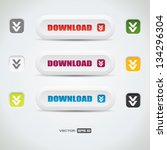 download buttons   white vector