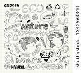 eco recycle reuse ecology... | Shutterstock .eps vector #1342963340