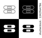 flat monochrome patch icon set...