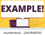 word writing text example.... | Shutterstock . vector #1342968350