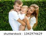 family walk in the park  happy...   Shutterstock . vector #1342974629