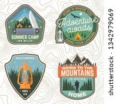 set of summer camp patches.... | Shutterstock .eps vector #1342979069