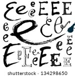 vector alphabet. hand drawn...   Shutterstock .eps vector #134298650
