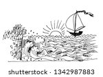 sea protected the sailing...   Shutterstock .eps vector #1342987883