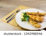 Breaded Fish Skewers. Squid ...