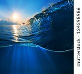 ocaen view seascape landscape...   Shutterstock . vector #134298986