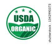 usda organic shield sign   Shutterstock .eps vector #1342990373