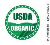 usda organic shield sign   Shutterstock .eps vector #1342990376