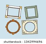 vector set of vintage photo... | Shutterstock .eps vector #1342994696