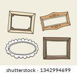 vector set of vintage photo... | Shutterstock .eps vector #1342994699
