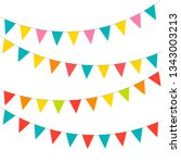 blank banner  bunting or swag... | Shutterstock .eps vector #1343003213