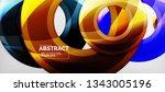 modern vector geometrical... | Shutterstock .eps vector #1343005196