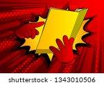 vector cartoon hand holding and ... | Shutterstock .eps vector #1343010506