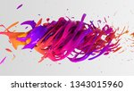 colorful liquid color... | Shutterstock . vector #1343015960