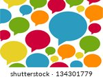 background of colorful speech... | Shutterstock .eps vector #134301779