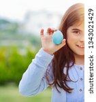 portrait of a cute baby girl...   Shutterstock . vector #1343021429