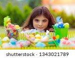 portrait of a pretty girl near...   Shutterstock . vector #1343021789