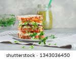 homemade sandwich with whole...