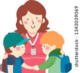 illustration of kids boys... | Shutterstock .eps vector #1343039069