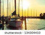Sailing Boats In The Harbor At...