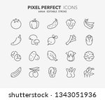 thin line icons set of... | Shutterstock .eps vector #1343051936