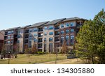 new brick and stucco apartments ... | Shutterstock . vector #134305880