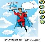 super birthday   Shutterstock .eps vector #134306084