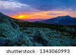 sunset mountain horizon... | Shutterstock . vector #1343060993