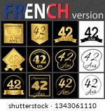 set of number forty two years ... | Shutterstock .eps vector #1343061110