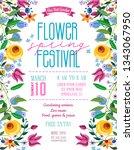 flower spring festival...   Shutterstock .eps vector #1343067950