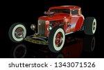 hot rod sports car. 3d render... | Shutterstock . vector #1343071526