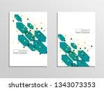 cover for book  magazine  flyer.... | Shutterstock .eps vector #1343073353