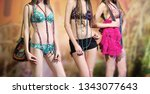 fashion of swimming suit. new... | Shutterstock . vector #1343077643