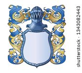 traditional european coat of... | Shutterstock .eps vector #1343082443
