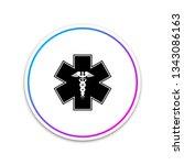emergency star   medical symbol ...   Shutterstock .eps vector #1343086163