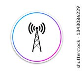 antenna icon isolated on white... | Shutterstock .eps vector #1343086229