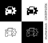 set car service icons on black... | Shutterstock .eps vector #1343091056