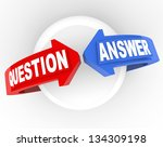 the words question and answer... | Shutterstock . vector #134309198