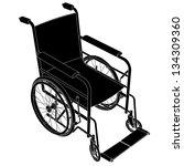 wheelchair vector   Shutterstock .eps vector #134309360