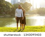 couple in love laughing looking ...   Shutterstock . vector #1343095403