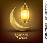ramadan kareem greeting card... | Shutterstock .eps vector #1343095940