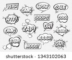 set of comic speech bubbles... | Shutterstock .eps vector #1343102063