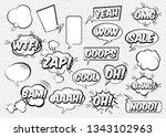 set of comic speech bubbles.... | Shutterstock .eps vector #1343102963