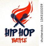 rap battle vector logo or... | Shutterstock .eps vector #1343103359