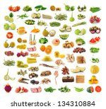 collection of food   Shutterstock . vector #134310884