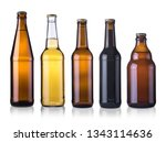 set of beer bottles  mockup.... | Shutterstock . vector #1343114636
